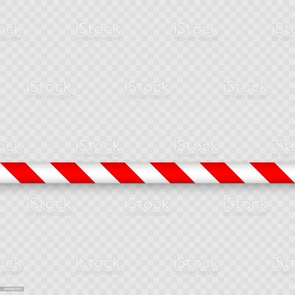 Lines of barrier tape vector art illustration