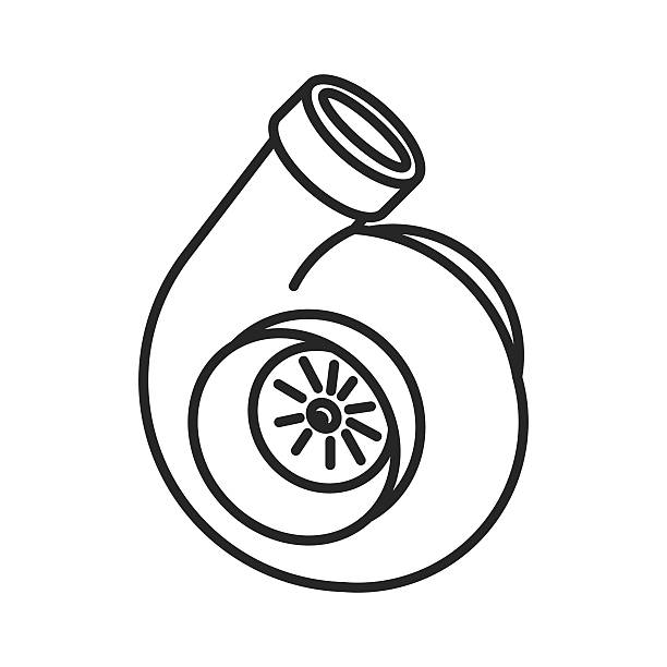 Royalty Free Turbo Engine Clip Art, Vector Images
