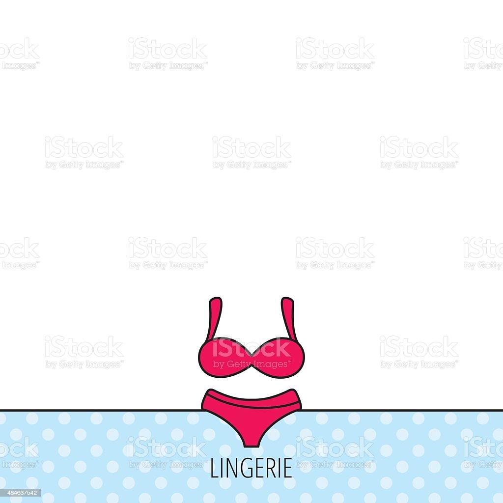 0e6ba7380029 Нижнее белье значок. Женщины underwear знак. Сток Вектор Стоковая фотография