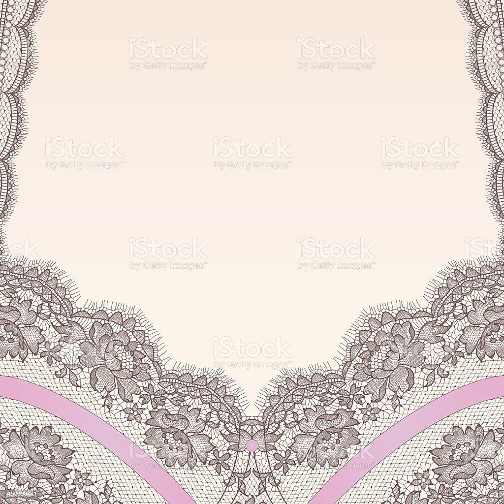 Lingerie. Lace. vector art illustration