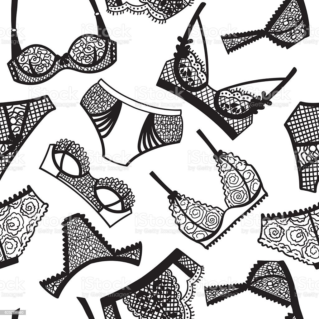 ecb4a2e6f1 Lingerie Panty And Bra Seamless Pattern Stock Vector Art   More ...