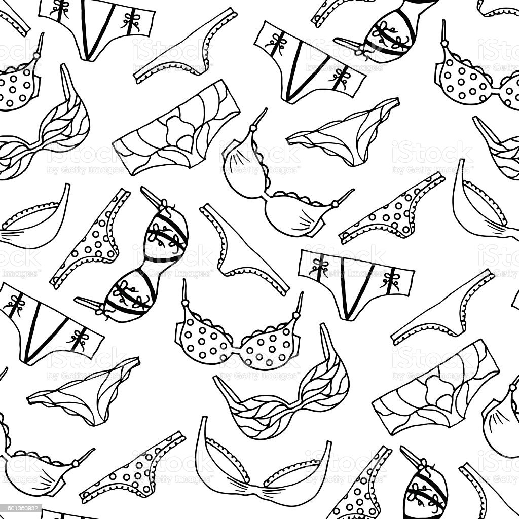 Lingerie seamless pattern. Vector underwear background design. vector art illustration