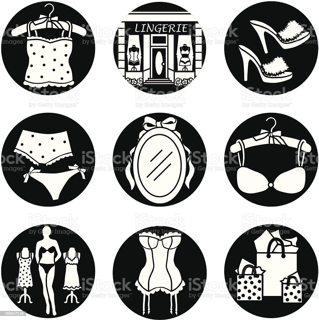 Lingerie shop royalty-free stock vector art