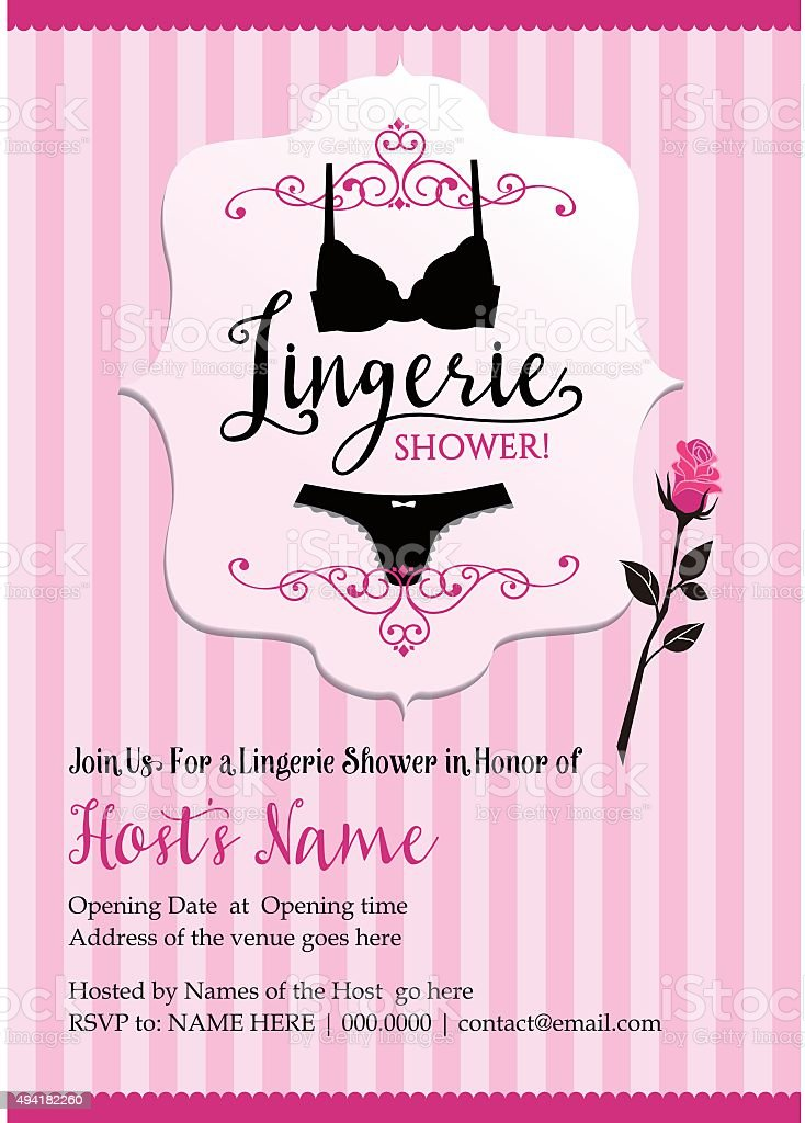 Lingerie shower vector art illustration