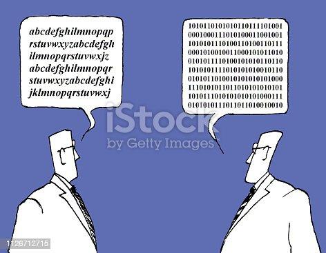 uomini che parlano linguaggi diversi antichi e moderni