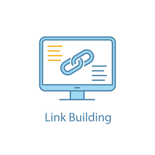 stockillustraties, clipart, cartoons en iconen met link building icon - schakel