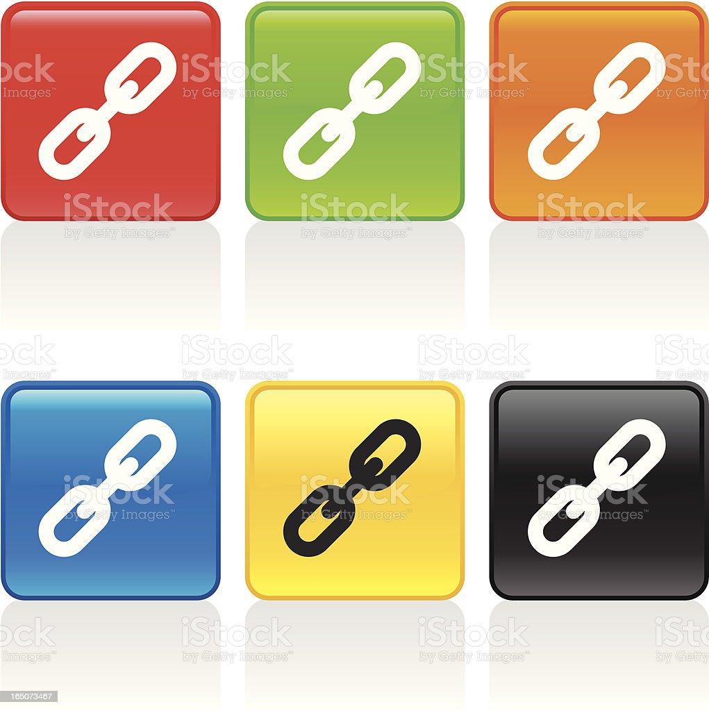 Link Icon vector art illustration
