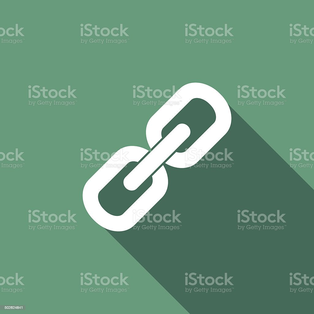 link icon vector art illustration