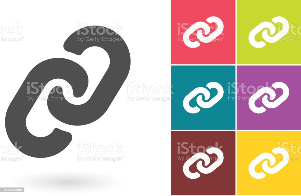 Verbindung Vektorsymbol Oder Kette Piktogramm Stock Vektor Art und ...