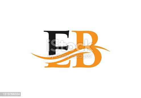 istock EB Linked Logo for business and company identity. Creative Letter EB Logo Vector 1319266334
