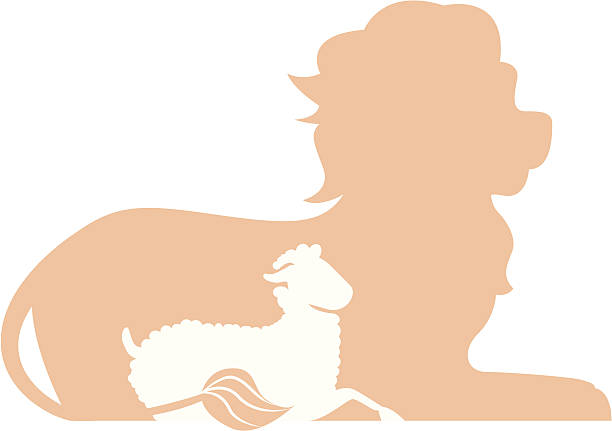 Royalty Free Lion And Lamb Clip Art Vector Images Illustrations