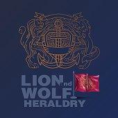 Coat Of Arms, Lion - Feline, Royalty, Vector, Wolf, heraldry