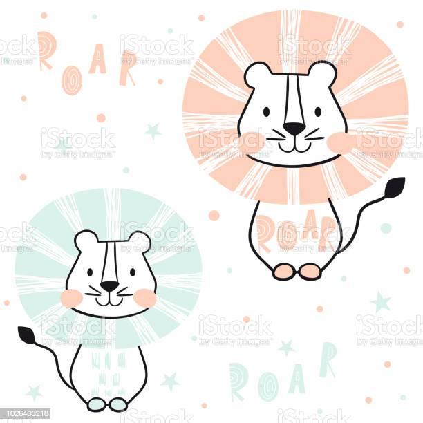 Lion baby seamless pattern scandinavian cute print vector id1026403218?b=1&k=6&m=1026403218&s=612x612&h=xk7lkno8zcv11dz zaqkunrxem3 qhfkuxs18fiiuyy=