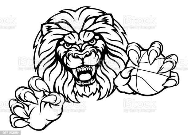 Lion basketball ball sports mascot vector id957193984?b=1&k=6&m=957193984&s=612x612&h=dkqizuzxs1zgbcs2yobjn0pcyksrv4w0 kwrttjsjiq=
