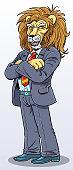Lion Businessman