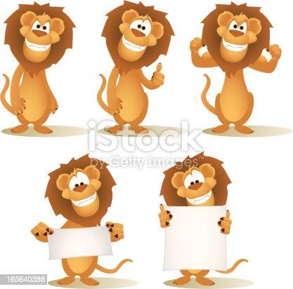 istock Lion Cartoon Collection 165640388