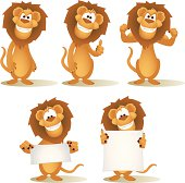 istock Lion Cartoon Collection 165640388