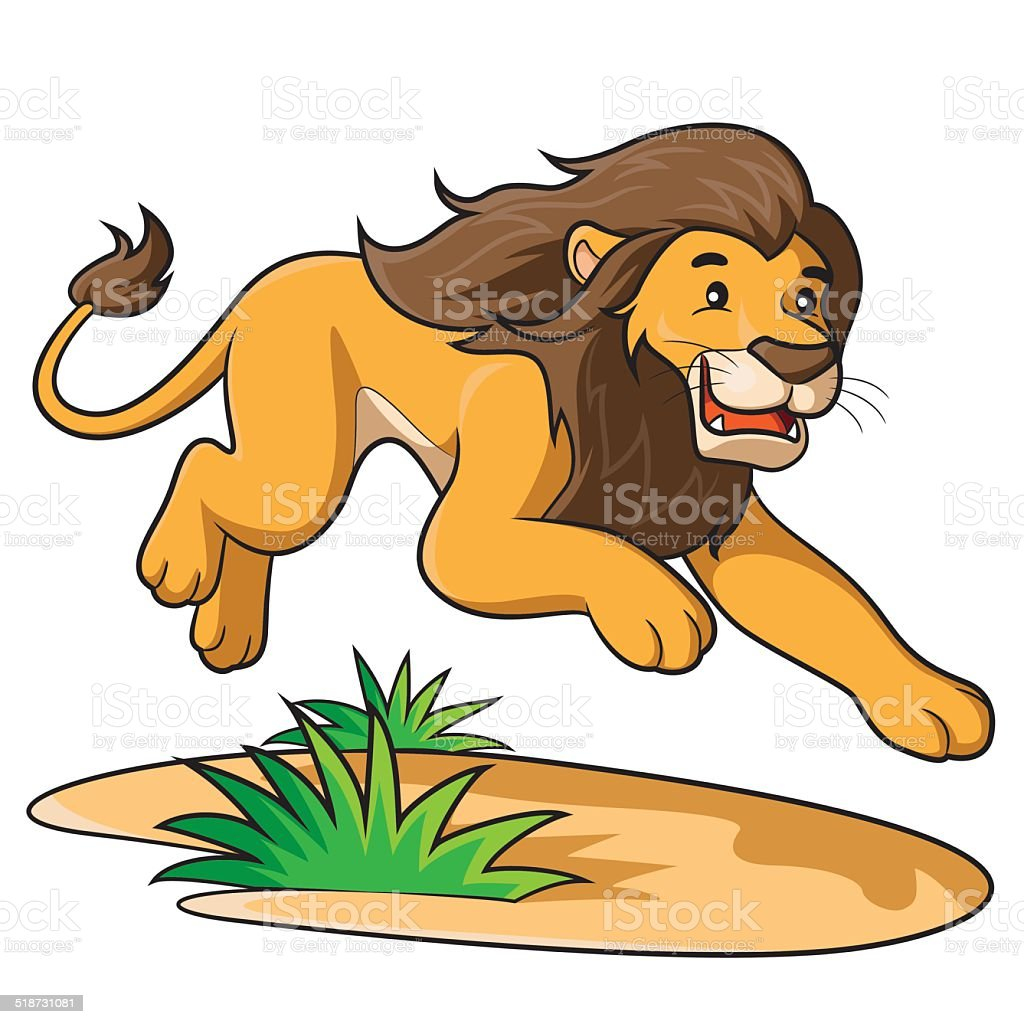 royalty free lion running clip art vector images illustrations rh istockphoto com clipart image of a lion clipart lionceau