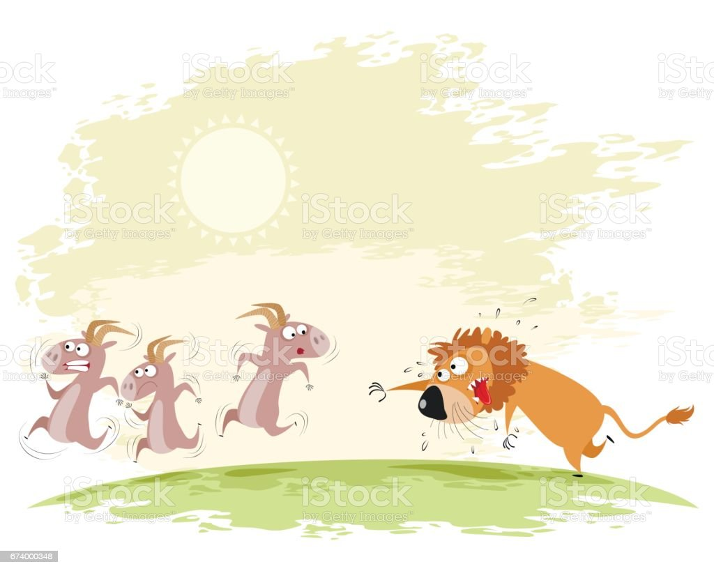 Lion catches goats royalty-free lion catches goats stock vector art & more images of anger