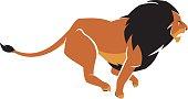 Lion Charging