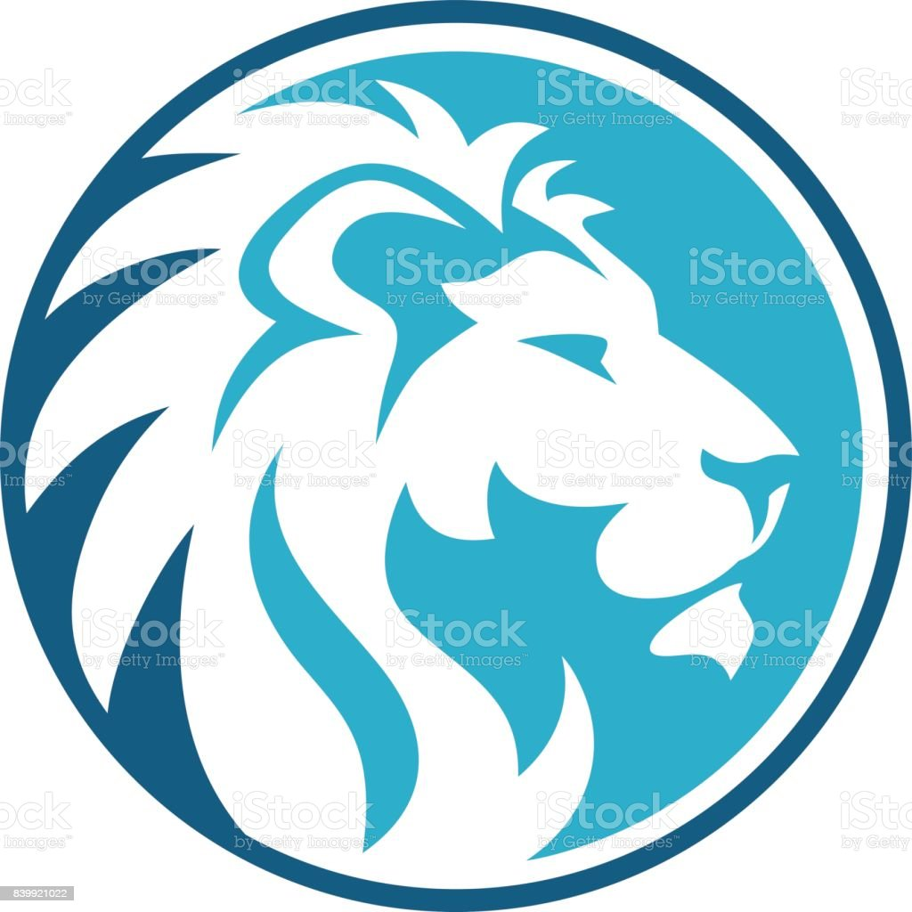 lion circle abstract royalty-free lion circle abstract stock illustration - download image now