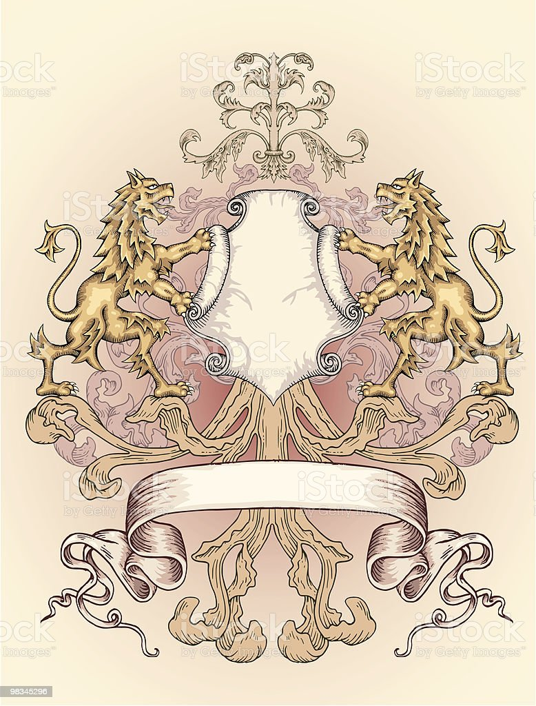 Lion Coat Of Arms royalty-free lion coat of arms stock vector art & more images of animal representation