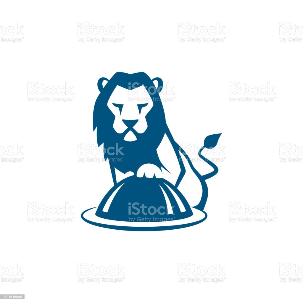 Lion Cook With Restaurant Plate Vector Illustration Stock Vector Art