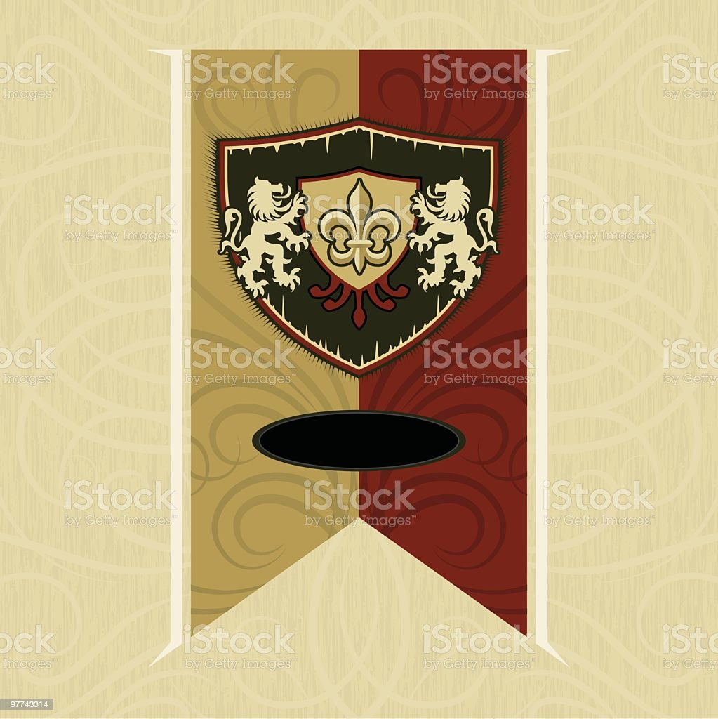 Lion Crest Banner royalty-free stock vector art