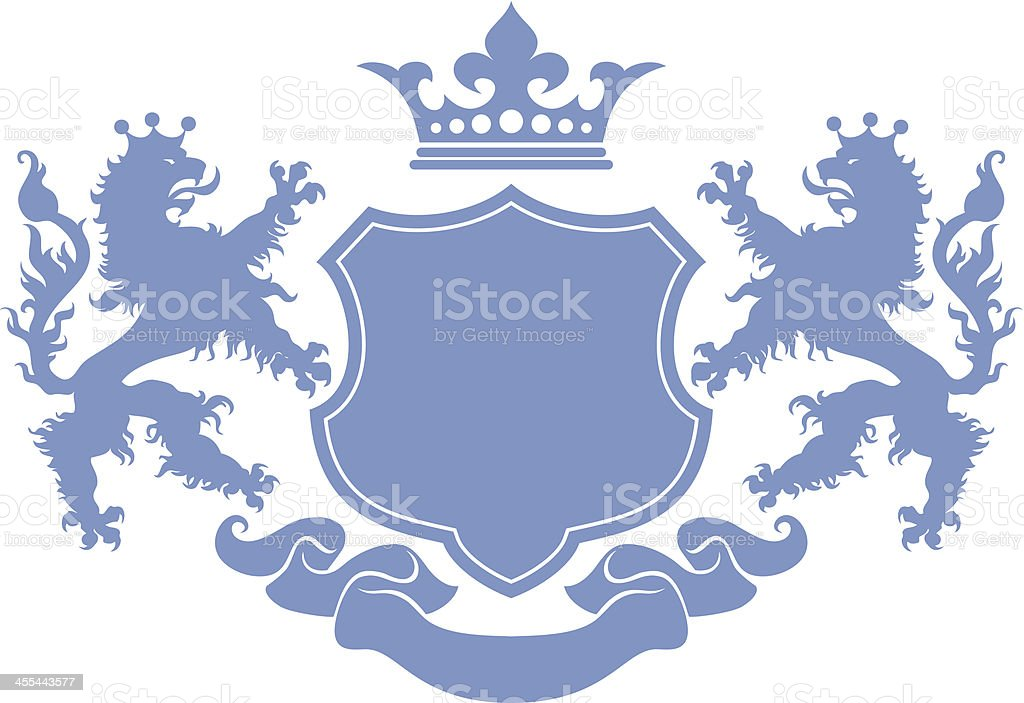 Lion Crest Stock Vector Art More Images Of Animal 455443577 Istock