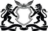 Lion crest, heraldry lions