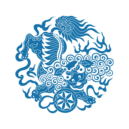 Lion Dance(Chinese traditional paper-cut art)