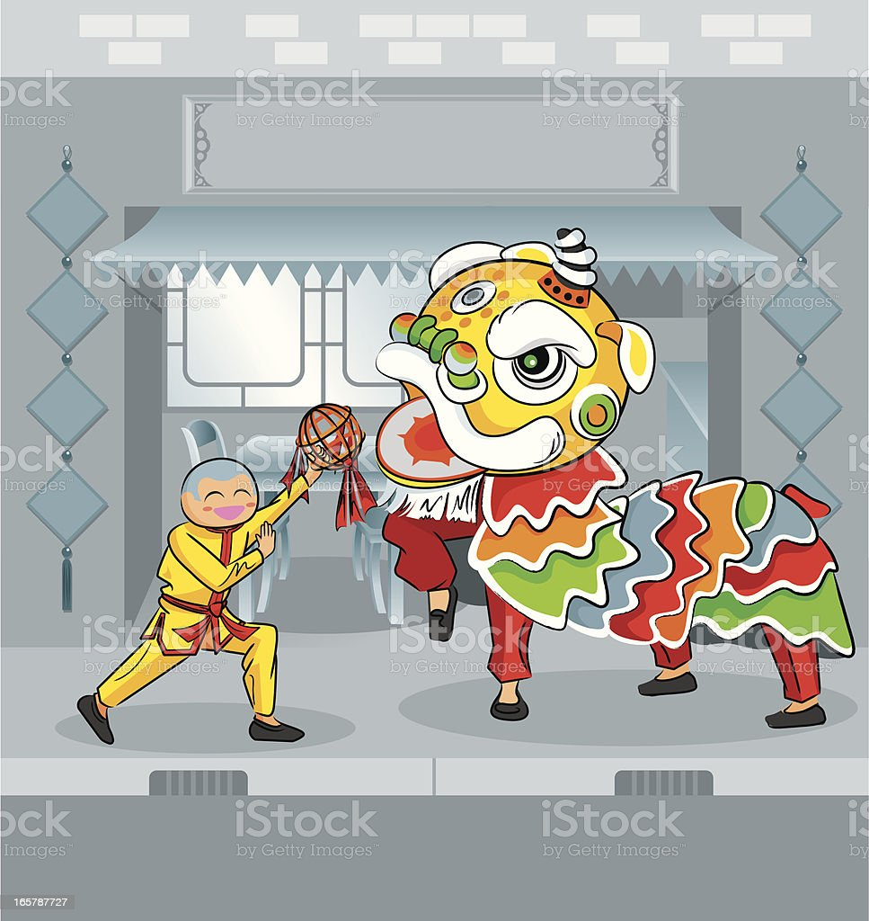 Lion Dance royalty-free lion dance stock vector art & more images of arts culture and entertainment