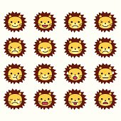 Lion Emoticons.