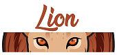 Vector Lion eye