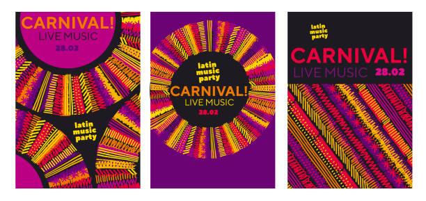 민속 스타일에 직면 하는 사자. 고전적인 레게 색 음악 개념 포스터입니다. 자메이카 포스터 벡터 일러스트 레이 션 - 카리브 문화 stock illustrations