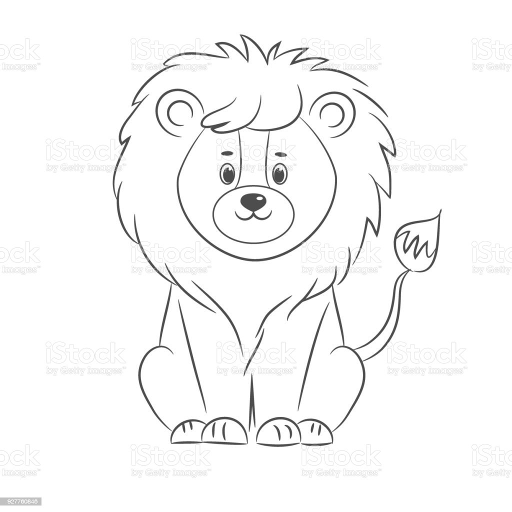 Lion For Coloring Book Stock Vector Art & More Images of Adult ...