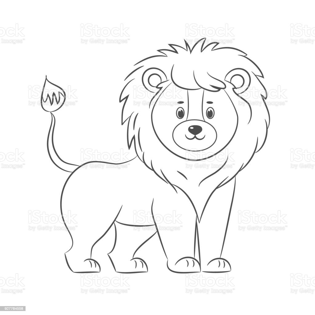 Lion For Coloring Book Stock Vector Art More Images Of Adult