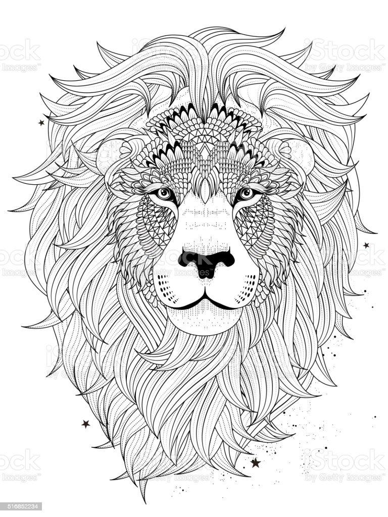 Ausmalbild Löwe Vektorgrafiken Und Illustrationen Istock