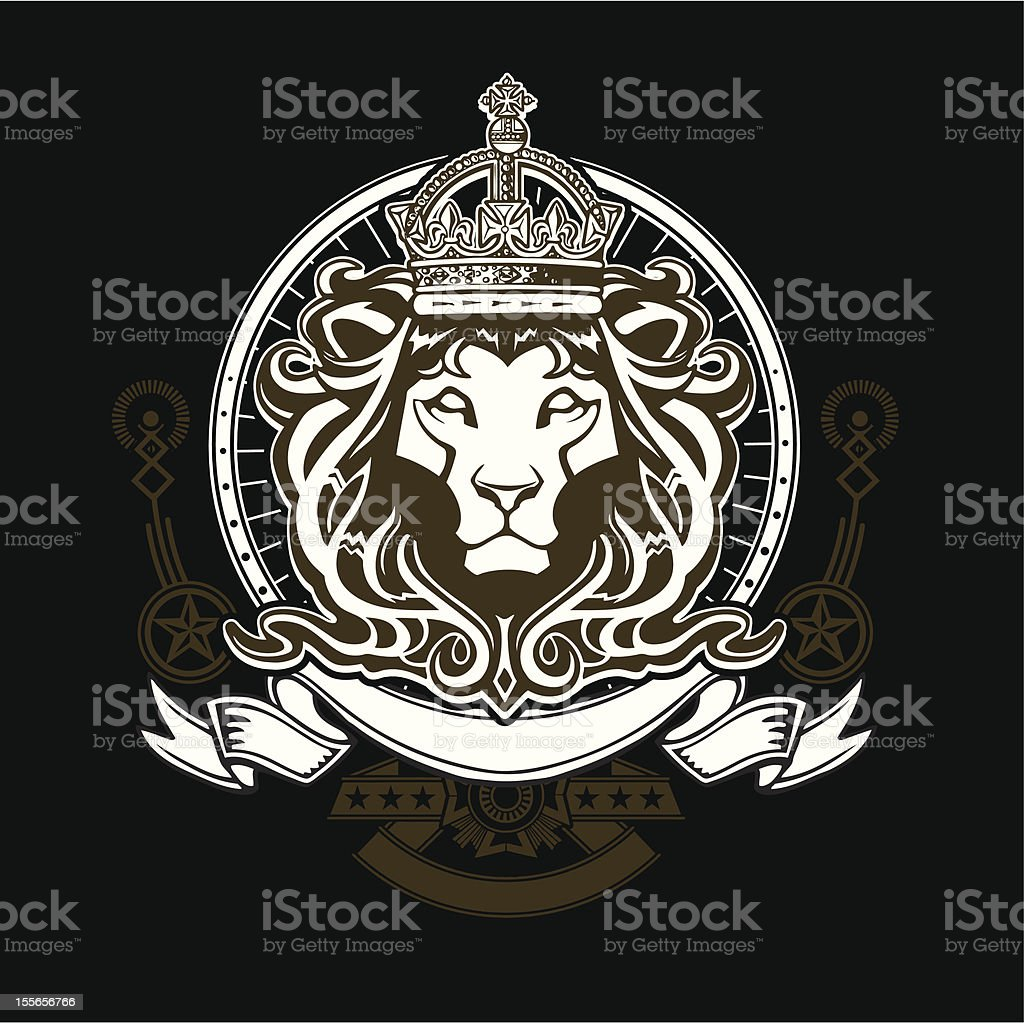 Lion Head Crest Royalty Free Stock Vector Art Amp More Images