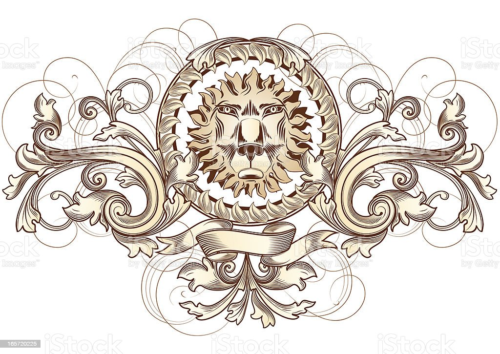 Lion head emblem royalty-free lion head emblem stock vector art & more images of abstract