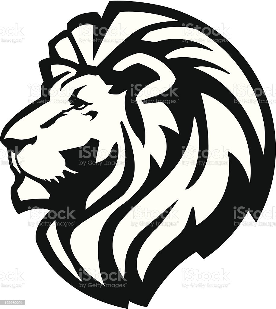 Lion Head Icon vector art illustration