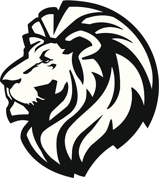 lion head icon - lion stock illustrations, clip art, cartoons, & icons