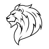istock Lion Head Logo Vector. 1223021405