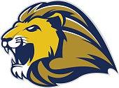 istock Lion head mascot 619388916