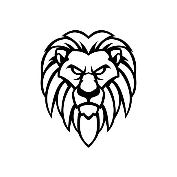32 Simple Lion Tattoo Cartoon Illustrations Royalty Free Vector Graphics Clip Art Istock Place big eyebrows sitting right above the eye to give it that hooded look, and draw the eye as a simple pie shape. 32 simple lion tattoo cartoon illustrations royalty free vector graphics clip art istock