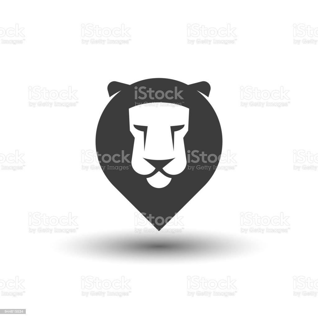 Tte De Lion Carte Pointeur Icne Ide Pour