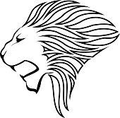Lion head silhouette