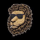 Lion Head Smoke  vector illustration for your company or brand