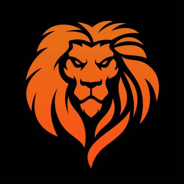 Lion Head Lion Head , Lion Roar Icon lion stock illustrations