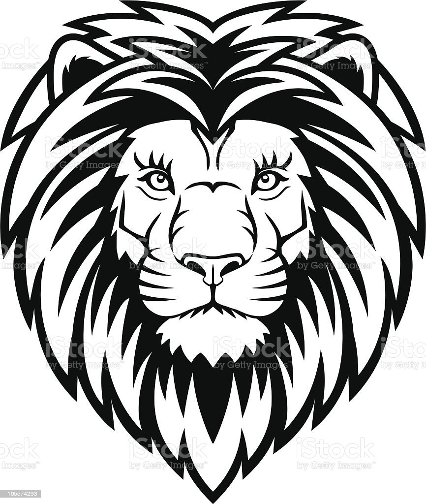 Lion Head vector art illustration